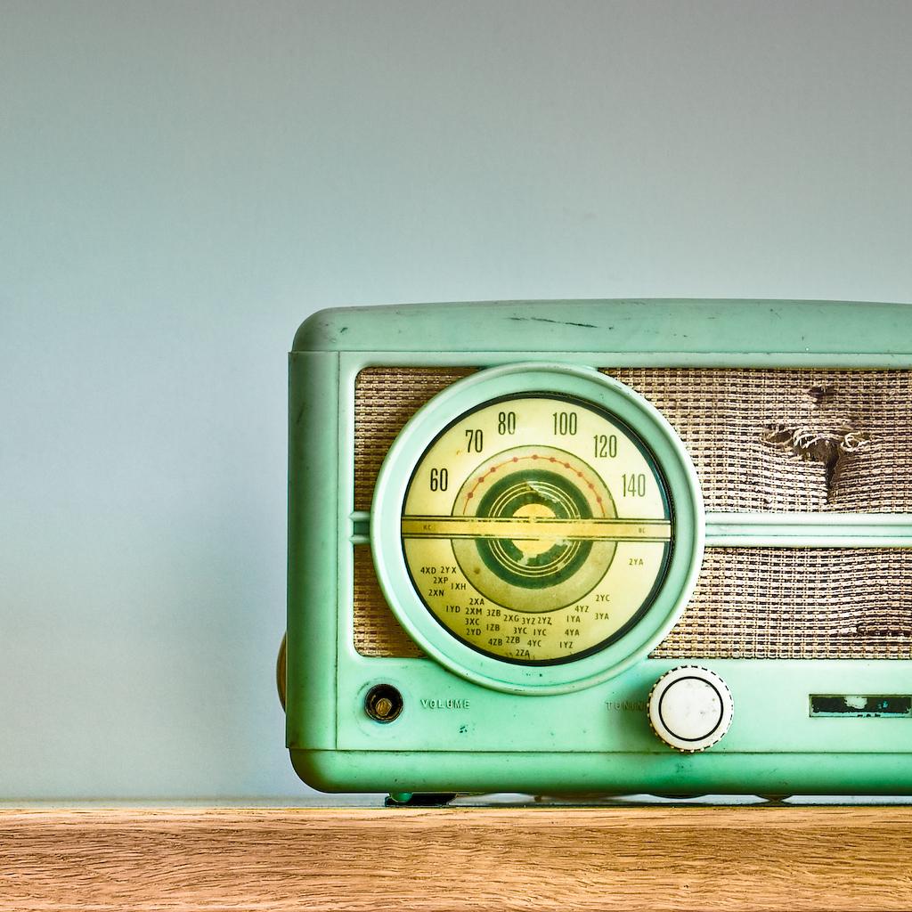 Radio estudio mezclador vintage